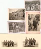 Lot De 6 Photographies De Chasseurs Alpins, 22e BCA En Algérie, Tikjda Avant L'embuscade, Photos De 1955-56, BCA - Guerra, Militares