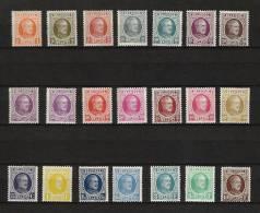 Zegels 190 -  210  ** Postfris - 1922-1927 Houyoux