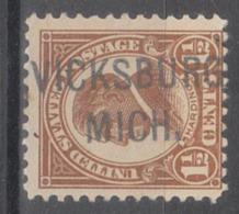 USA Precancel Vorausentwertung Preo, Locals Michigan, Vickburg 553-L-1 HS - Vereinigte Staaten