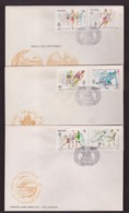 POLONIA - 25 4 1984     3  FDC GIOCHI OLIMPICI - Sommer 1984: Los Angeles