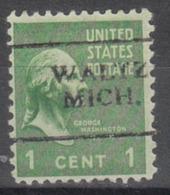 USA Precancel Vorausentwertung Preo, Locals Michigan, Waltz 701 - Vereinigte Staaten