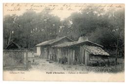 CPA   SIMPLE       33       ARCACHON  1903       CABANE DE RESINIERS - Arcachon