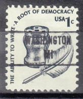 USA Precancel Vorausentwertung Preo, Locals Michigan, Washington 853 - Vereinigte Staaten