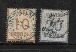 France Alsace Lorraine Timbre De 1870 N°5 Et 6 Oblitérés - Elsass-Lothringen