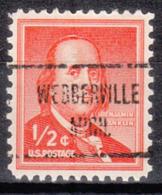 USA Precancel Vorausentwertung Preo, Locals Michigan, Webberville 723 - Vereinigte Staaten