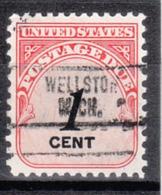 USA Precancel Vorausentwertung Preo, Locals Michigan, Wellston 734 - Vereinigte Staaten