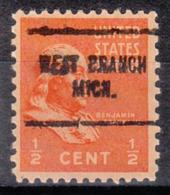 USA Precancel Vorausentwertung Preo, Locals Michigan, West Branch 704 - Vereinigte Staaten