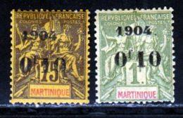 Martinique 1904 Yvert 57 / 58 * TB Charniere(s) - Martinica (1886-1947)