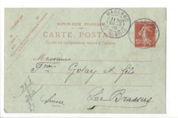 24030 - Haute Savoie  Magland 26.05.1910 Pour Le Brassus - Standard- Und TSC-AK (vor 1995)