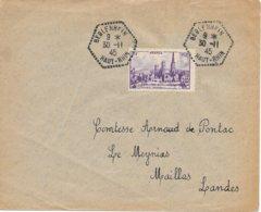 Lettre De Beblenhfin Haut Rhin 1945 - Marcophilie (Lettres)