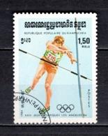 KAMPUCHEA N° 446  OBLITERE COTE 0.40€  JEUX OLYMPIQUES LOS ANGELES - Kampuchea