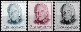 Série De 3 T.-P. Gommés Neufs** - Série Courante Effigie De S.A.S. Rainier III - N° 1705-1706-1707 (Yvert) - Monaco 1990 - Monaco