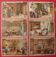 6 Chromo Liebig : Intérieur D'une Maison De Paysans. 1905. S 819 - Liebig