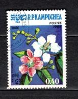 KAMPUCHEA N° 478  OBLITERE COTE 0.15€  FLEUR - Kampuchea