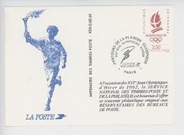 Albertville 1992 : Parcours De La Flamme Olympique, Souvenir Philatélique - Olympic Games