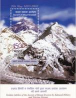 5X INDIA 2003 Mount Everest; Miniature Sheet, MINT - India