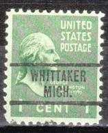 USA Precancel Vorausentwertung Preo, Locals Michigan, Whittaker 734 - Vereinigte Staaten