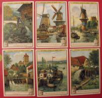 6 Chromo Liebig : Moulins. 1905. S 826. Chromos - Liebig