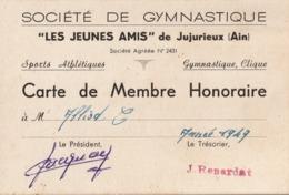 """JUJURIEUX (Ain) - Société De Gymnastique - """"Les Jeunes Amis"""" - - Vieux Papiers"""
