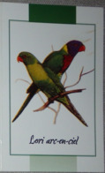 Petit Calendrier De Poche 2004 Oiseau Lori Arc En Ciel  Pharmacie Rohan Morbihan - Calendars