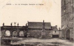 SIZUN - Arc De Triomphe, Ossuaire Et L'église - Sizun