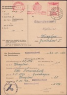 Germany - Freistempel, Thur-und Hauptstadt BRANDENBURG (Havel) 27.11.1943 - Grosswusterwitz BZ MGB. - Germany