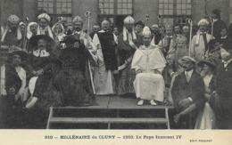 CARTE POSTALE ORIGINALE ANCIENNE : MILLENAIRE DE CLUNY EN 1910  PRESENCE DU PAPE INNOCENT IV  ANIMEE SAONE ET LOIRE (71) - Cluny