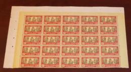 Nouvelle Calédonie - 1928-38 - N°Yv. 161 - Bougainville 20f - Bloc De 25 Bord De Feuille - Neuf GC ** / MNH / Postfrisch - Neukaledonien