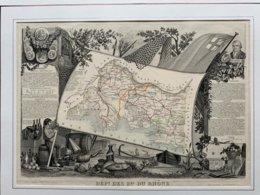 Département De La Seine Et Marne  / Gravure Authentique XIXéme De Levasseur / - Carte Geographique