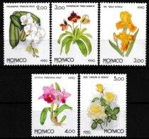 Série De 5 T.-P. Gommés Neufs** - Osaka 90 Exposition Florale Internationale Au Japon - N° 1710/14 (Yvert) - Monaco 1990 - Monaco
