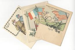 3 CALENDRIERS USA WW1 SOLDATS AMERICAINS CALENDAR 1918 CALENDRIER TROUPES AMERICAINES YMCA MILITARIA /FREE SHIPPING R - Calendarios