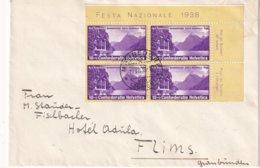 SUISSE 1938 LETTRE DE MÄNNEDORF BLOC FETE NATIONALE - Switzerland