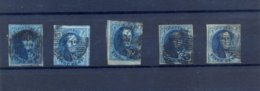 5 X Nr. 4 Gestempeld (used) Dik En Dun Papier 350 Côte - 1849-1850 Medaillen (3/5)