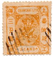 """Timbre/Stamp """"Chine Imperial - 1867 Shanghai L.P.O."""" - Cotation Y&t - 50 Euros - ...-1878 Préphilatélie"""