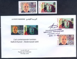 Tunisie 2019 - Les Peintres Tunisiens Série ( 2v)+FDC - Tunisia