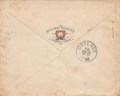224/30 - UK SPATEN BEER - Enveloppe TP Victoria LONDON 1898 Vers OSTENDE - Spaten Beer Restaurant Piccadilly Circus - Biere