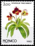 T.-P. Gommé Neuf** - Osaka 90 Exposition Florale Internationale Au Japon Paphiopedilum - N° 1711 (Yvert) - Monaco 1990 - Monaco