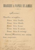 225/30 - Belgique Entier Postal 1885 Repiqué - Commande à La Brasserie à Vapeur De JAMBES, Félicien Thirionet , Brasseur - Biere