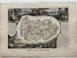 Département De La Meurthe  / Gravure Authentique XIXéme De Levasseur / - Carte Geographique
