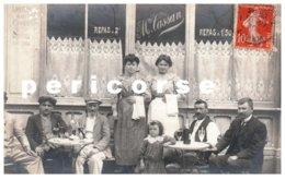 12  Capdenac Gare  Café Restaurant Mme Cassant  (carte Photo) - Andere Gemeenten