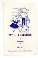 Imphy Calendrier Droguerie Lemaitre 1964 - Calendriers