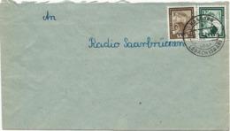 LETTRE 1952 AVEC CACHET DE HASBORN ÜBER LEBACH - 1947-56 Allierte Besetzung