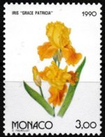 Timbre-poste Gommé Neuf** - Osaka 90 Exposition Florale Internationale Au Japon Iris- N° 1712 (Yvert) - Monaco 1990 - Monaco