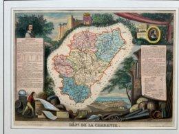 Département De La Charente / Gravure Authentique XIXéme De Levasseur / - Carte Geographique