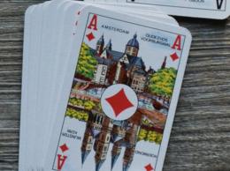 Kaartspel : 52k + 3 Jokers; Azen = Nederlandse Steden - Carta Mundi - Speelkaarten