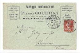 24027 - Horlogerie Fabrique D'horlogerie Pierre Coudray Magland Pour Le Brassus 06.12.1914 - Magland