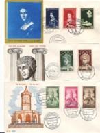 SARRE : 1956 - Lot De 6 FDC - Oeuvres Populaires, Foire, JdT, JO, Croix-Rouge, Reconstruction - 2 Scans - FDC