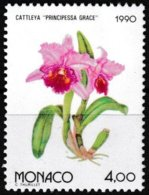 Timbre-poste Gommé Neuf** - Osaka 90 Exposition Florale Internationale Au Japon Cattleya- N° 1713 (Yvert) - Monaco 1990 - Monaco