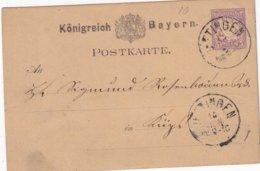 BAYERN 1880     ENTIER POSTAL/GANZSACHE/POSTAL STATIONERY CARTE - Bavière