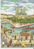 PARIS NOTRE DAME DE PARIS. CP 12x17 Illsutration D'après Bin Kashiwa Notre Dame Et Les Quais De La Seine - Notre Dame De Paris